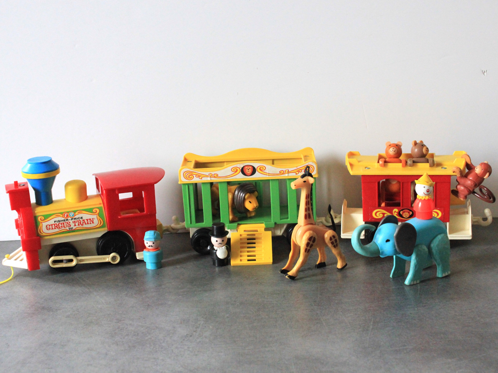 Circus train-Fisher Price-vintage
