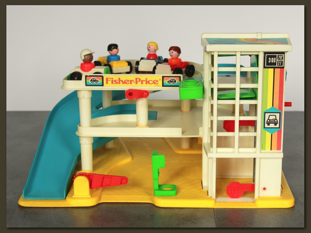 Garage Fisher Price annees 80
