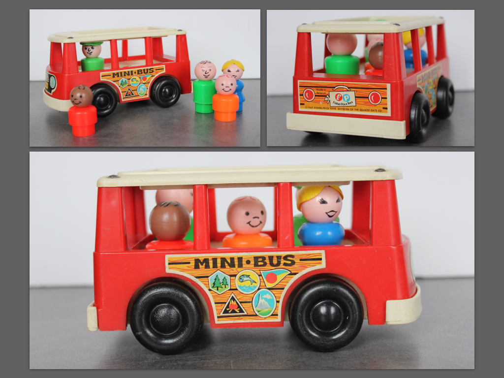 Mini bus-Fisher Price-Vintage