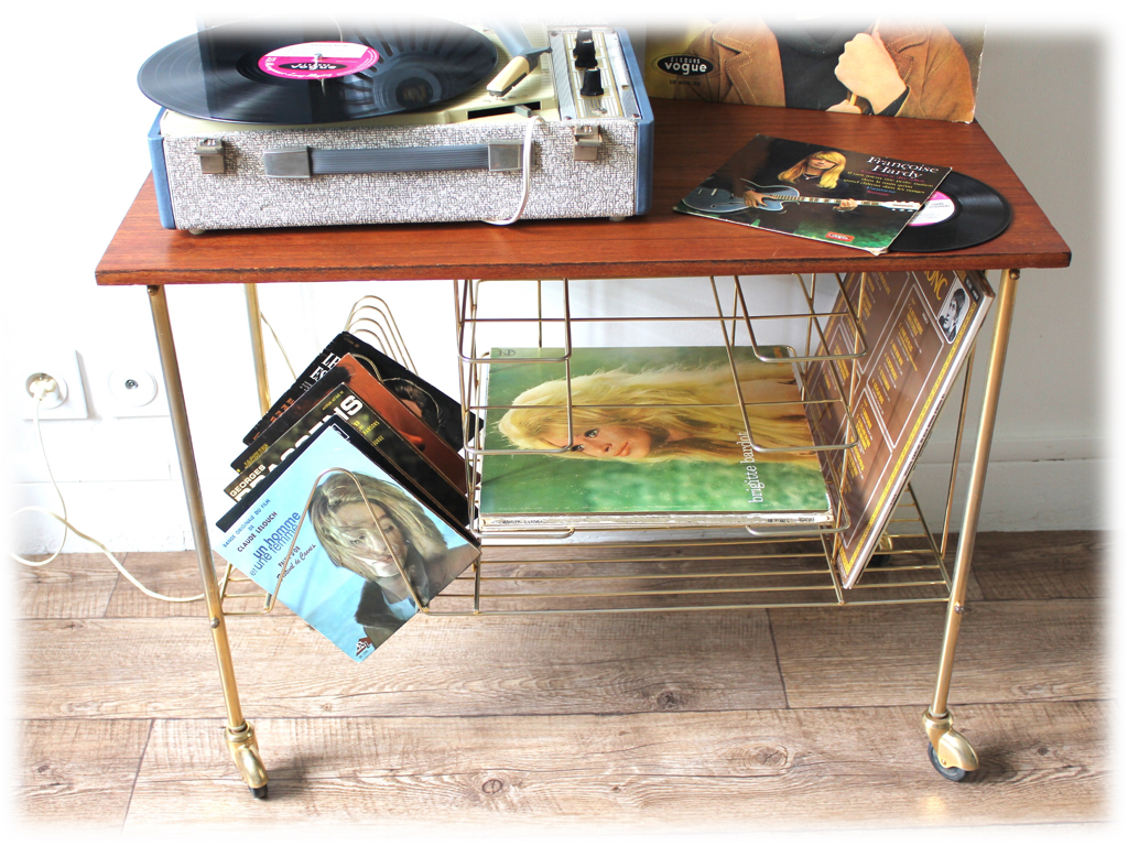 Table porte-vinyle-Sixties-Annees 60