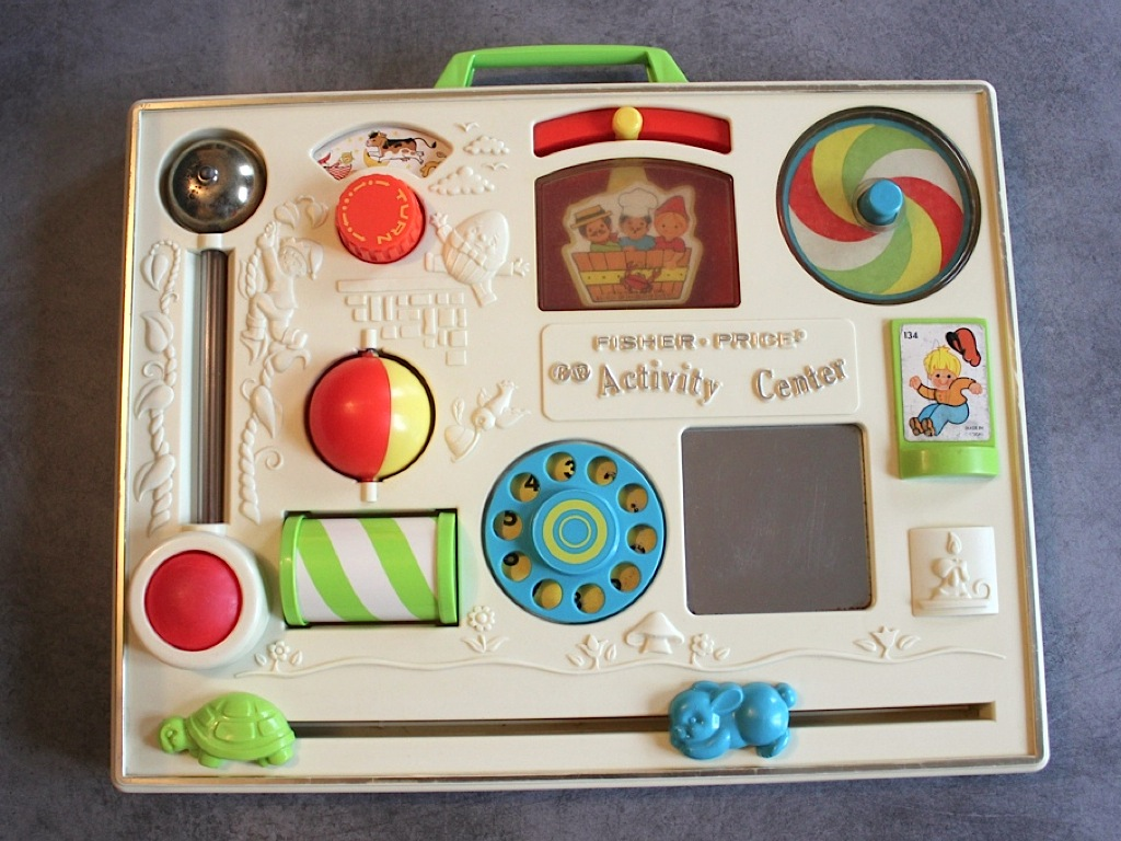 Tableau activites Fisher Price vintage