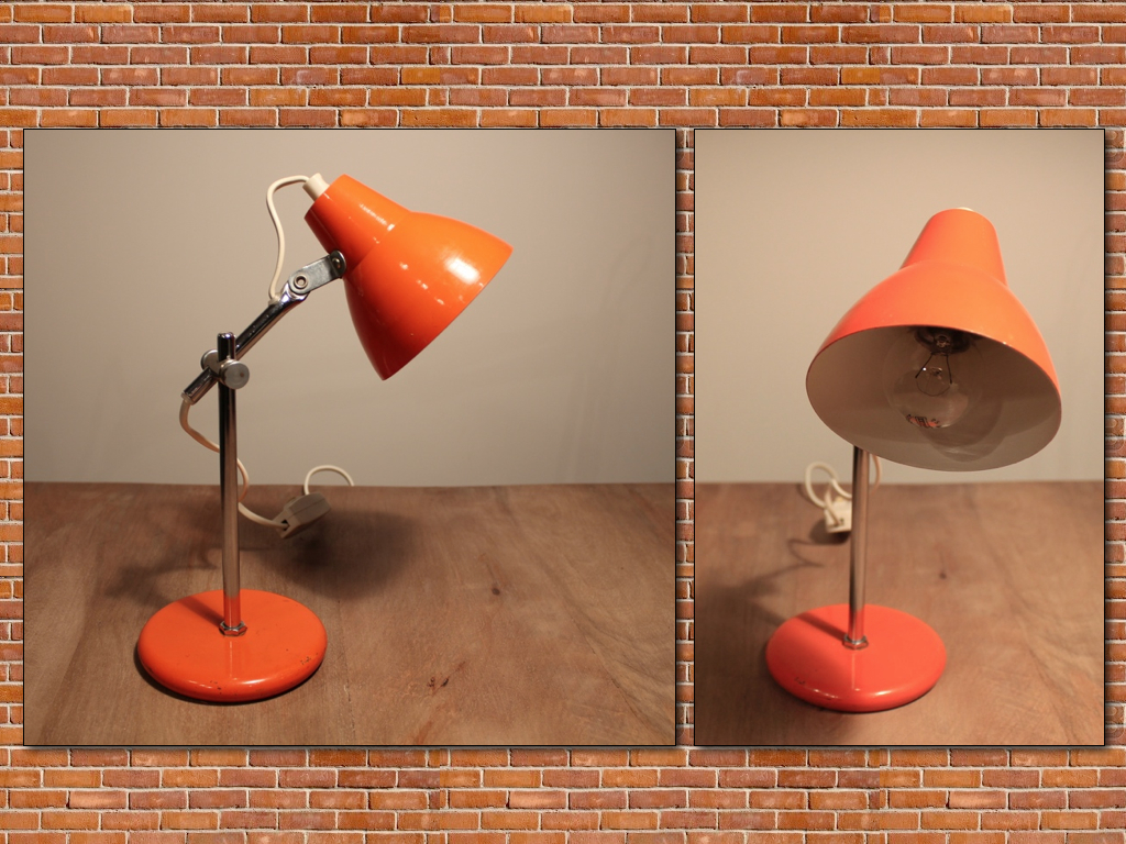 lampe-de-bureau-orange-vintage