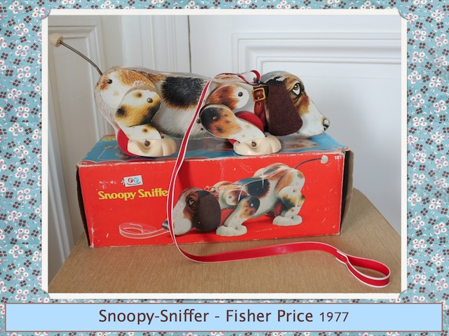 Chien Ficher Price Snoopy Sniffer vintage