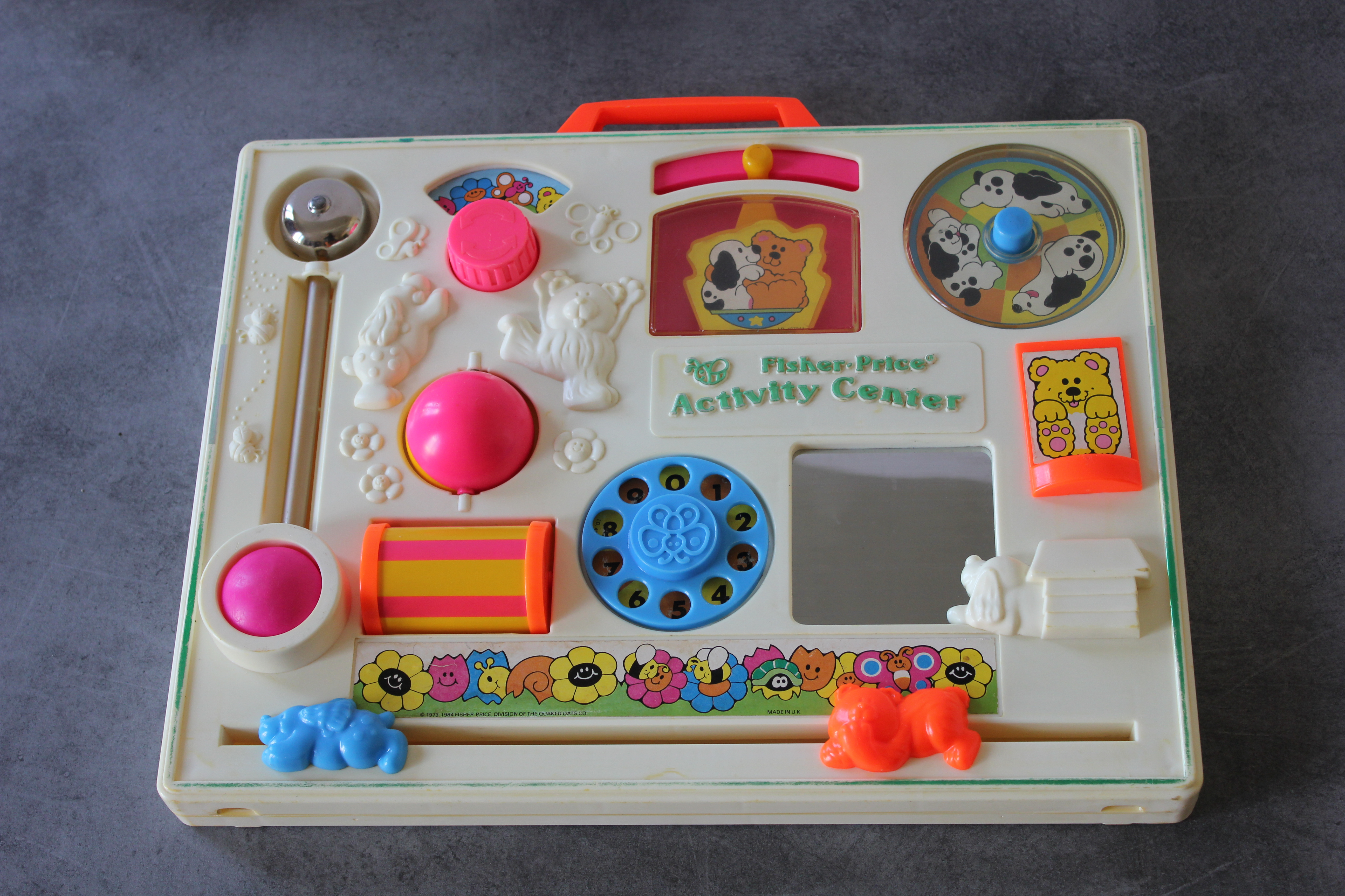 tableau activites-Fisher Price-vintage 1984