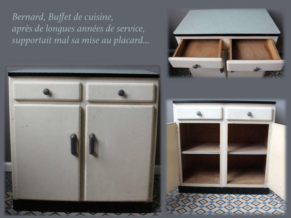 D co buffet de cuisine vintage annees toulouse 3128 for Buffet bas cuisine conforama