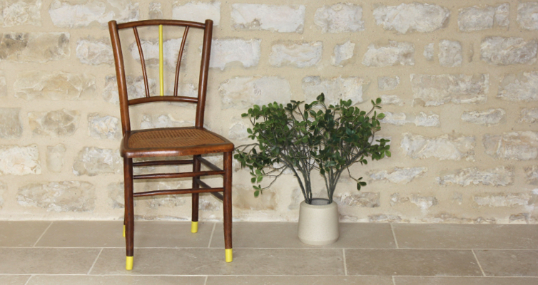 Chaise ancienne en cannage type bistrot Thonet-vintage